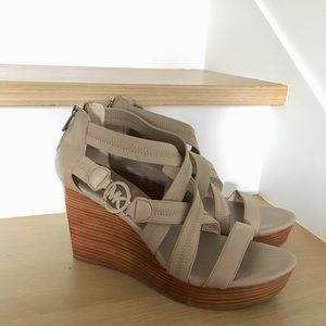 Michael Kors Strappy Wedges Size 9
